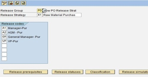 PO Release Strategy