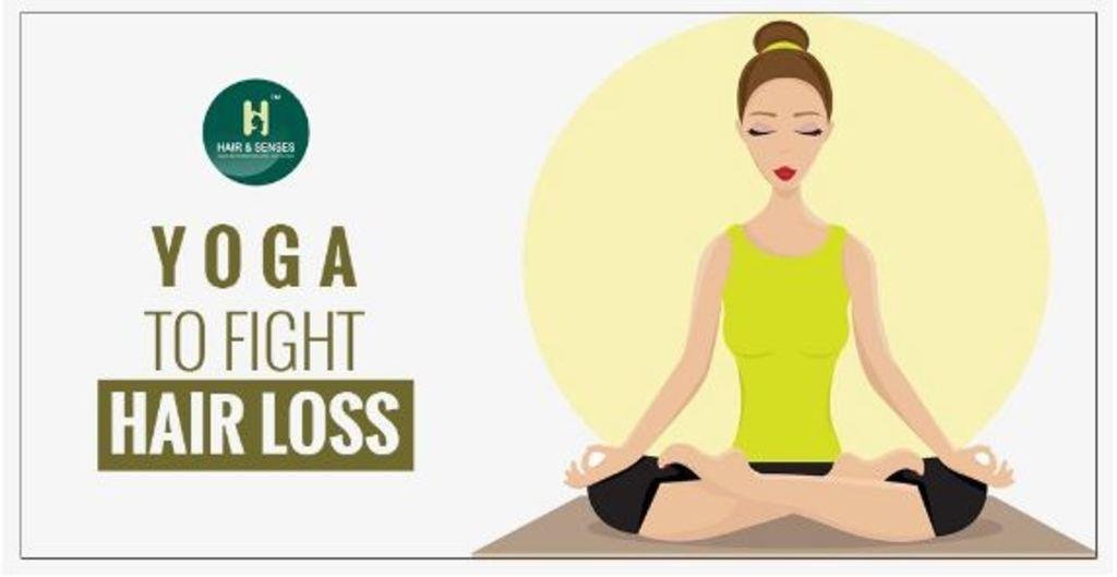 Yoga to fight hair loss via sandeep kaur