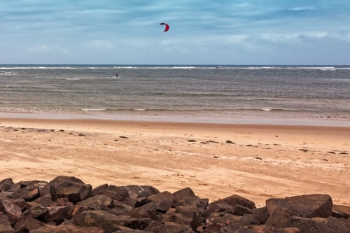 Lonely Kite Surfer via Jukka Heinovirta