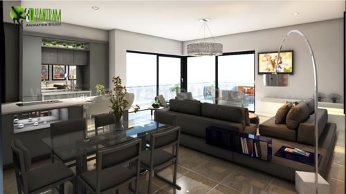 Modern Exterior Apartments with Residential Interior Unit De... via Yantram Studio
