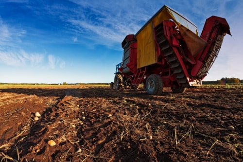 Potato Harvester On The Autumn Fields via Jukka Heinovirta