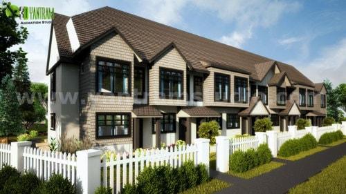 3D Exterior Rendering Services of Condo House by Yantram Arc... via Yantram Studio
