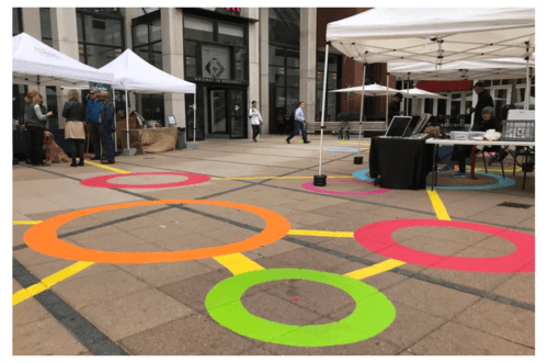 Kendall Square public art hopes to send colorful message thi... via Jolie Buchanan