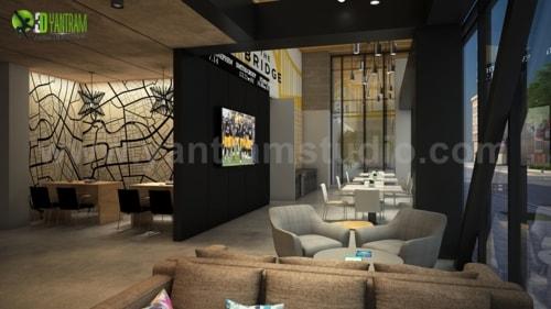 Architectural Walkthrough Services of Exterior Roadside Apar... via Yantram Studio