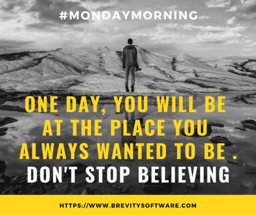 Happy Monday Morning!!                                     #Monday #MondayMotivation #MondayMorn... via Brevity Software Solutions
