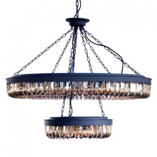 Newest Design Big Ball Crystal Hang Wine Cup Pendant Lamp via Lesso Home US