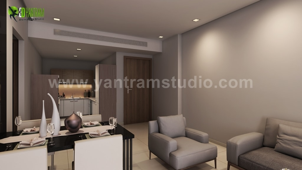 3D Walkthrough Visualization Interior & Exterior Residential... via Yantram Studio