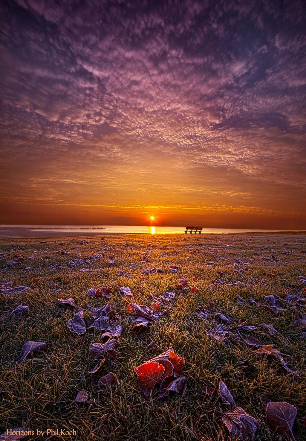 """Be The Light""                                         Autumn sunrise on the shore of Lake Michigan ... via Phil Koch"