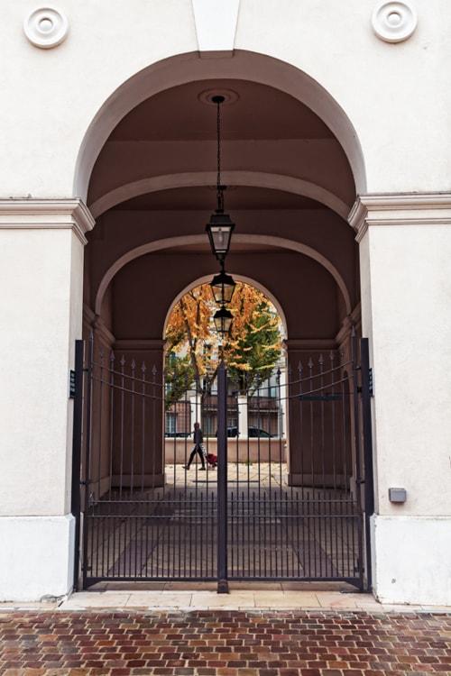 Three Lanterns In An Archway via Jukka Heinovirta