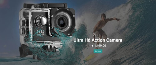 Buy Portable and Compact 4k Hd 1080p Waterproof Sports Actio... via Zosta