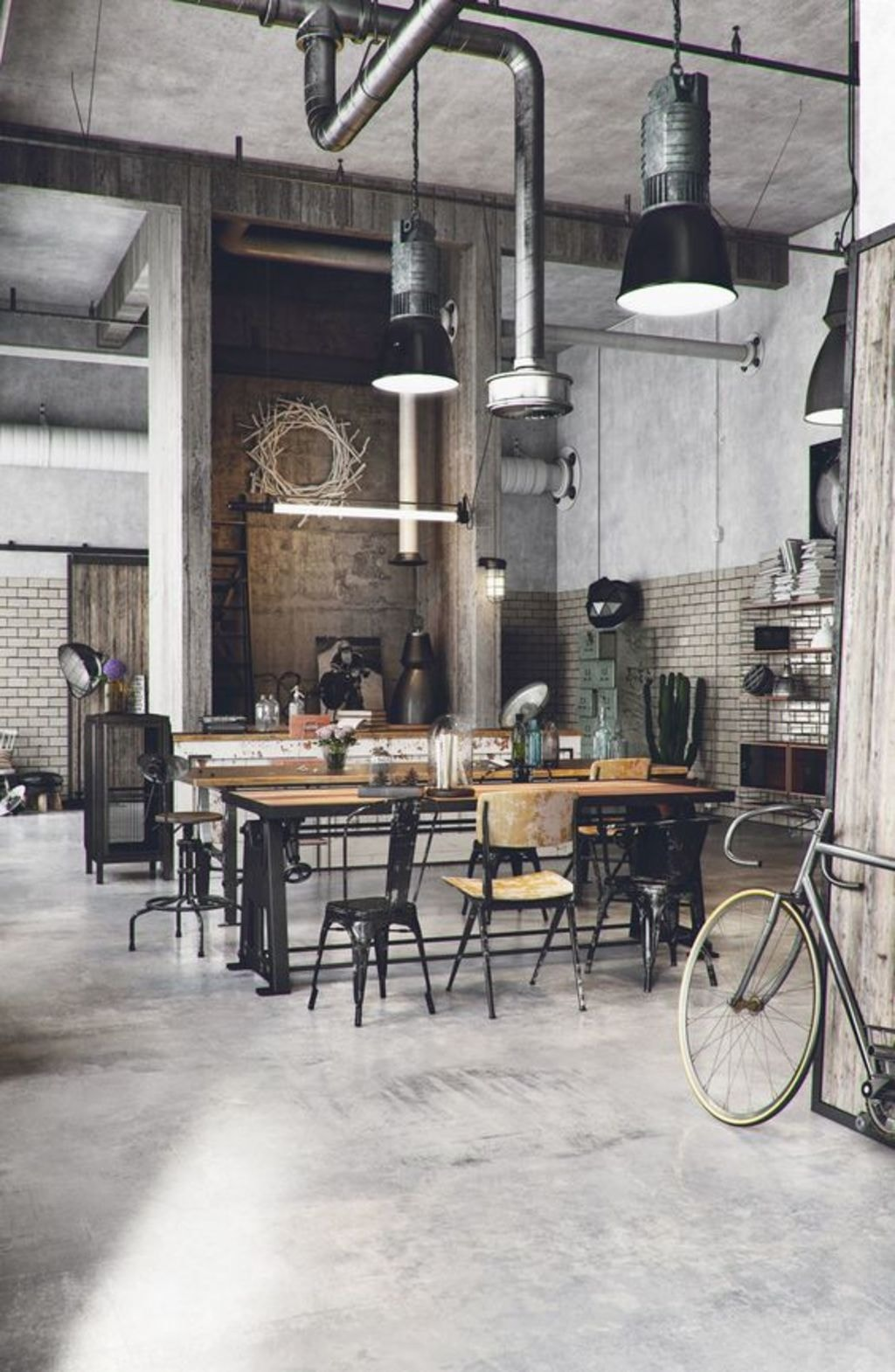 Get Into the Nitty-Gritty of Industrial Interior Design Styl... via speedframe