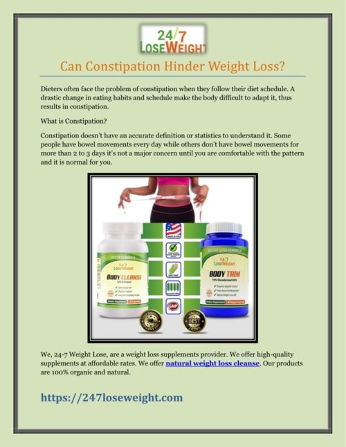 Can Constipation Hinder Weight Loss?