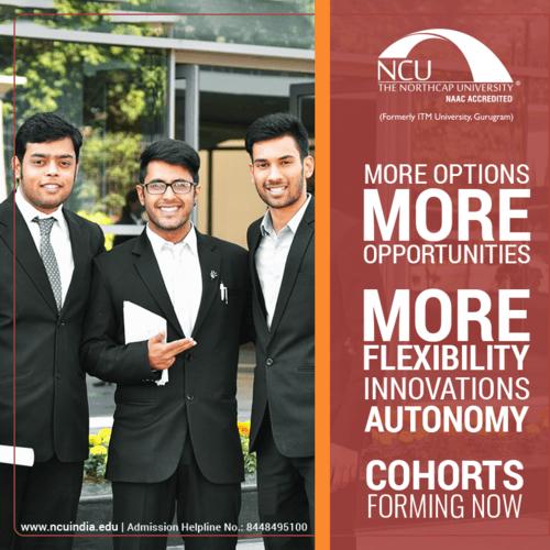 Best Educational institute in Delhi NCR - NCU India via The NorthCap University