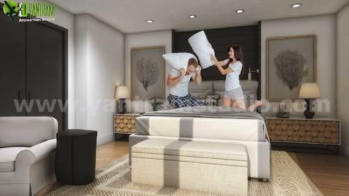 Exterior & Interior 3D Residential Walkthrough Rendering Ser... via Yantram Studio