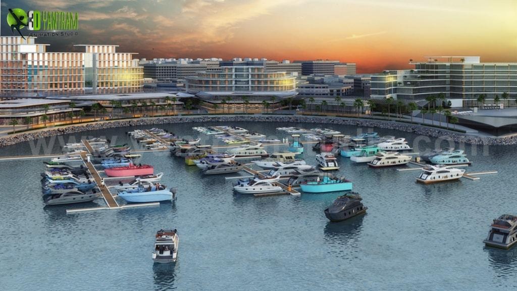 Beach Side Hotel Design with Yacht Station by Yantram Archit... via Yantram Studio