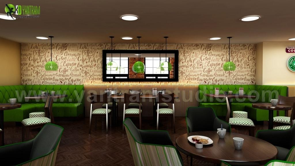 Architectural Design Cafe Plans & Restaurant Ideas by Yantra... via Yantram Studio