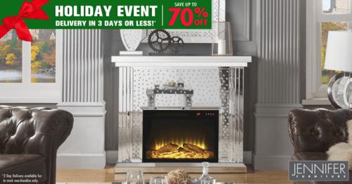 Holiday Event Sale– Buy Fireplace Online Jennifer Furniture via JenniferFurniture