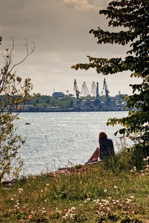 Girl By The Harbour via Jukka Heinovirta