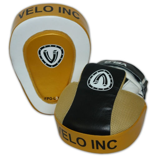 VELO Focus Pads Leather Curved Hook & Jab Mitts Kick Boxing MMA Strike Punch Bag  | eBay