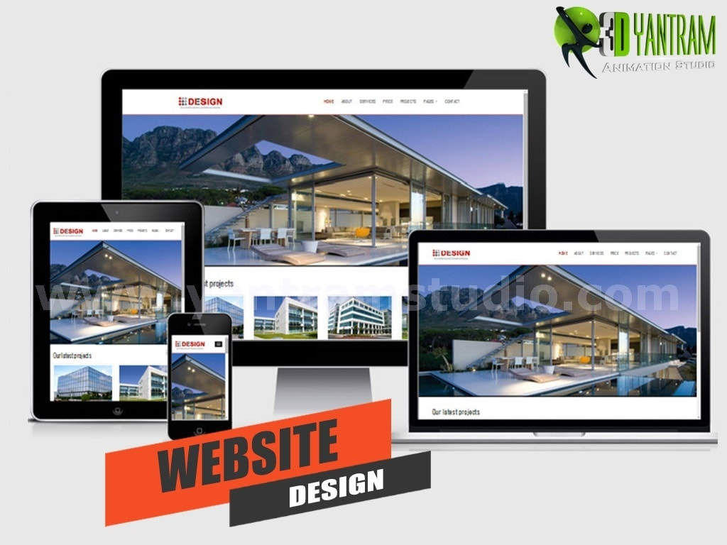 Website Design / Development Services by Yantram Real Estate... via Yantram Studio