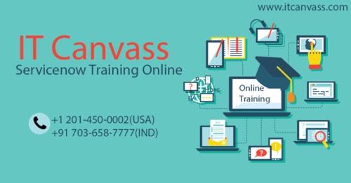 Servicenow Training Online via itcanvass