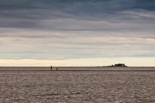 Walking On The Sand Bank via Jukka Heinovirta