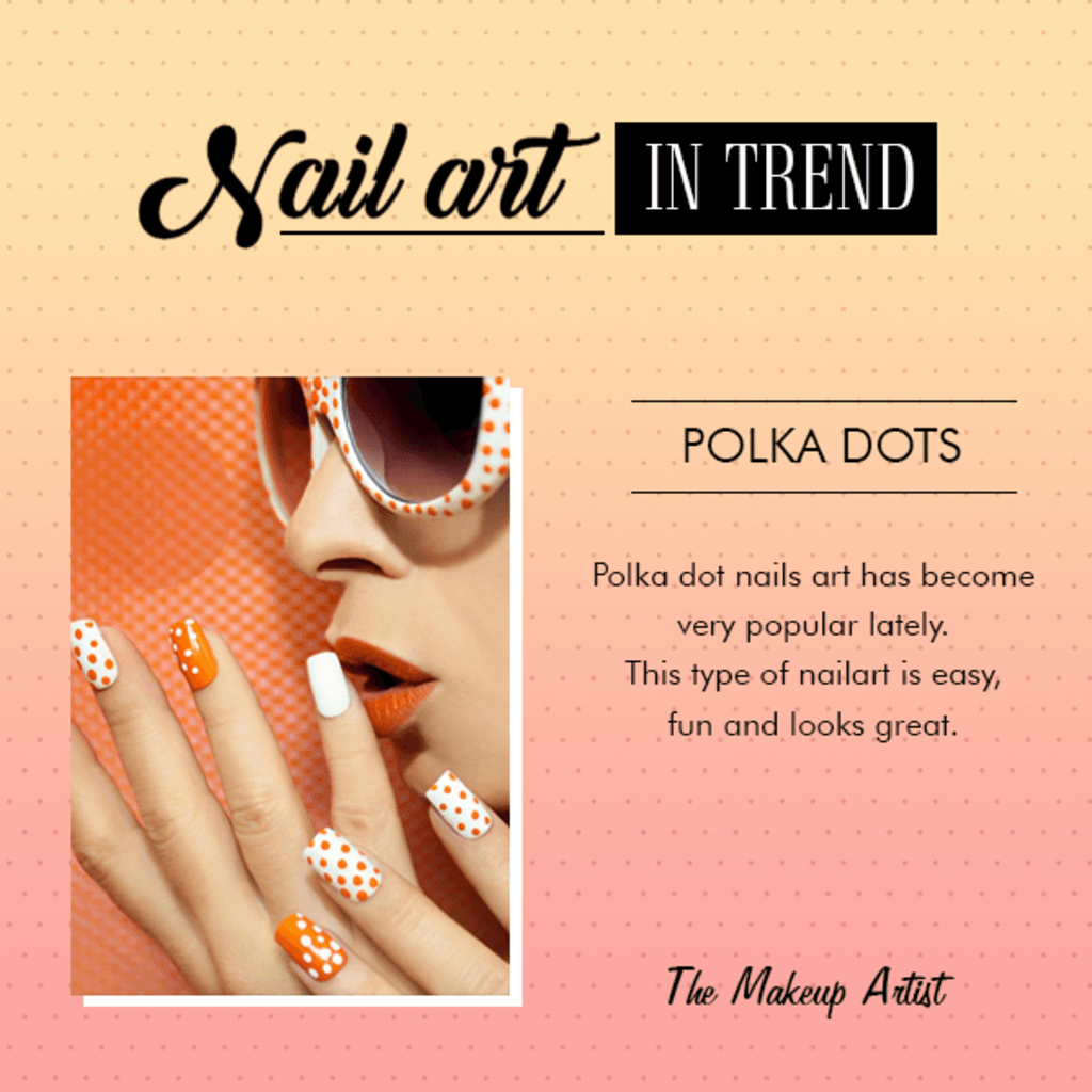 Polka dots nail art designs are not just in trend but even e... via The Makeup Artist