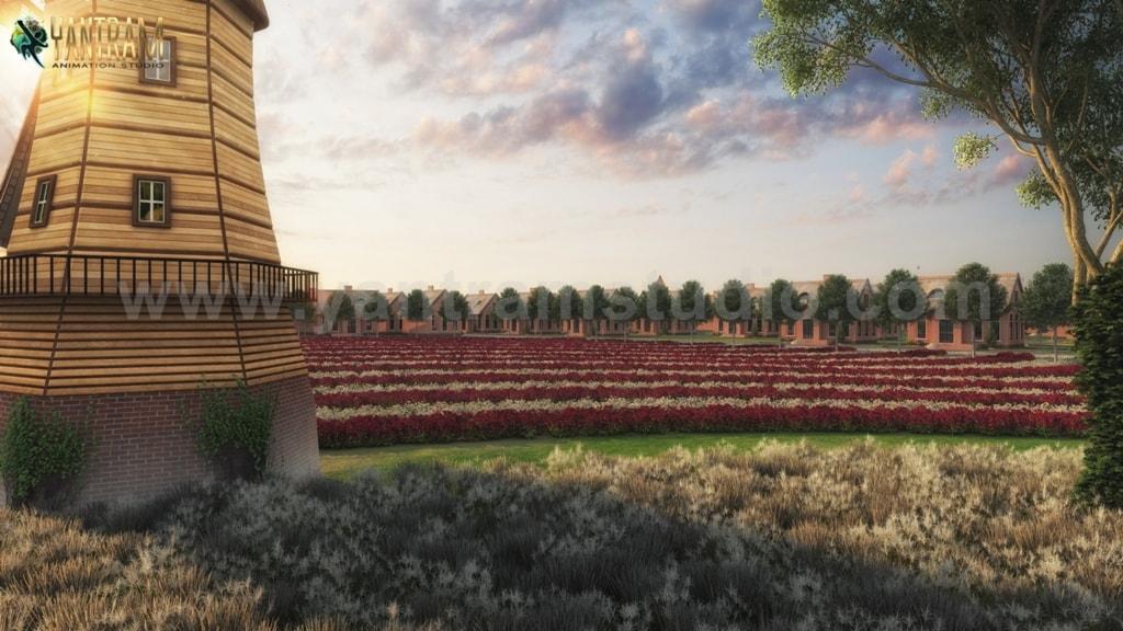 3D Exterior Walkthrough of World's most Luxury Villa Entranc... via Yantram Studio