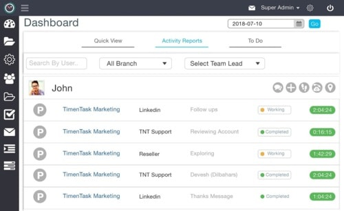 Best Employee Monitoring Software via TimenTask