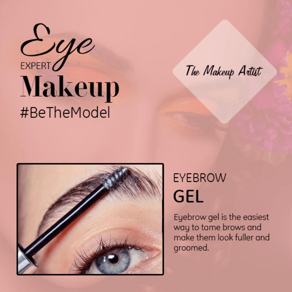 Eyebrow gel works like a hairspray as it is used to keep the... via The Makeup Artist