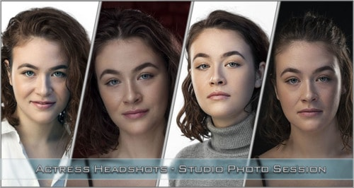Actress Headshots studio session via Nikolay Mirchev