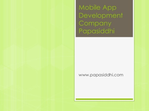 Mobile App Development Company Papasiddhi
