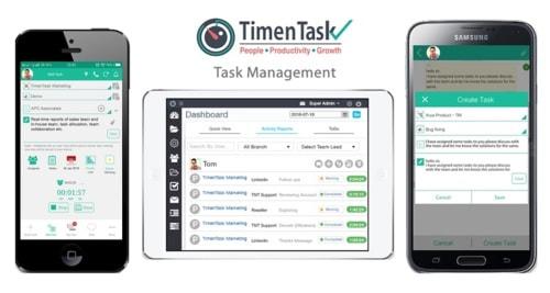 Employee Task Management Software via TimenTask