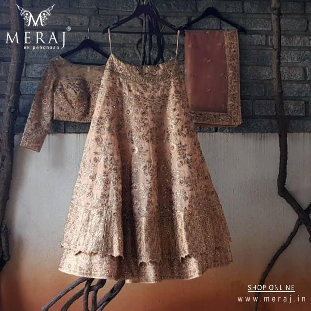 Party Wear Lehenga, Wedding Lehenga Choli Online Shopping via Meraj ek pehchaan