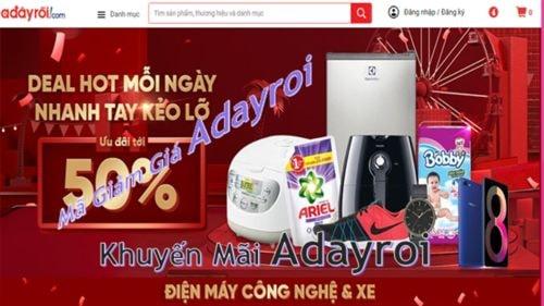 Mã Giảm Giá Adayroi, Khuyến Mãi Adayroi tháng 3/2019