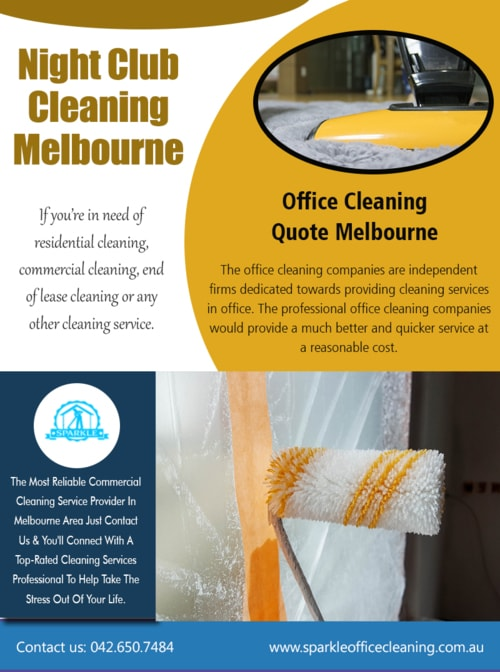 Night Club Cleaning Melbourne via Commercial cleaning