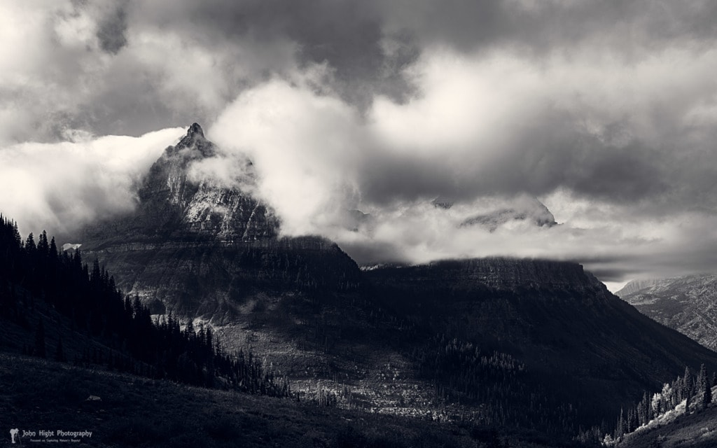 Mount Oberlin Cloaked in Clouds via John Hight