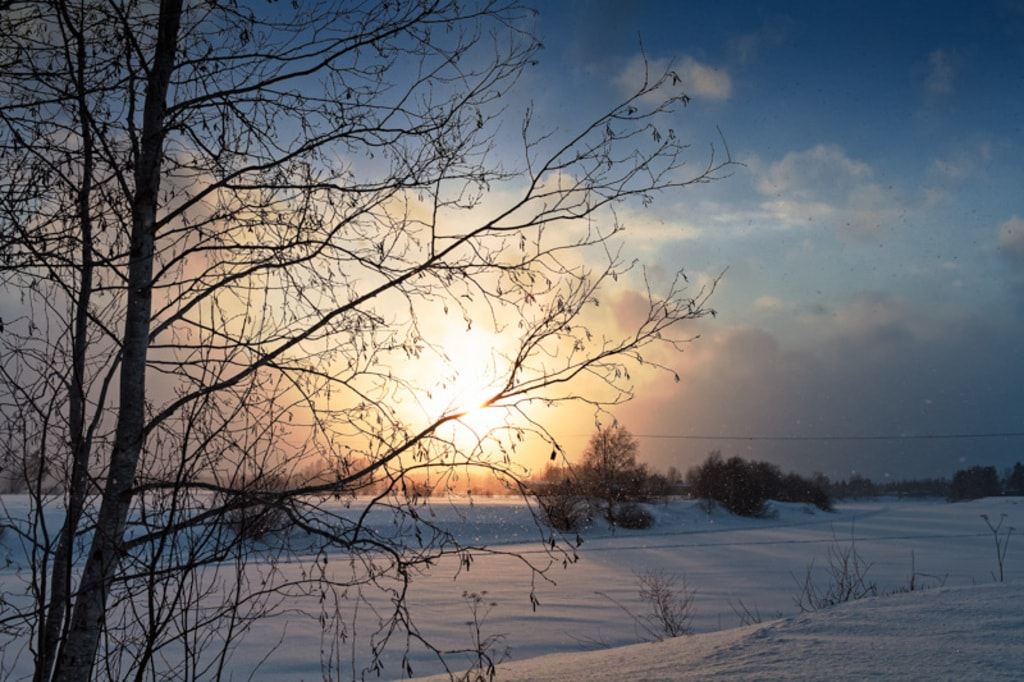 Winter Sunset By The River via Jukka Heinovirta