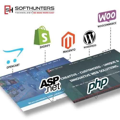 Softhunters Ecommerce web design agency via ashish malik