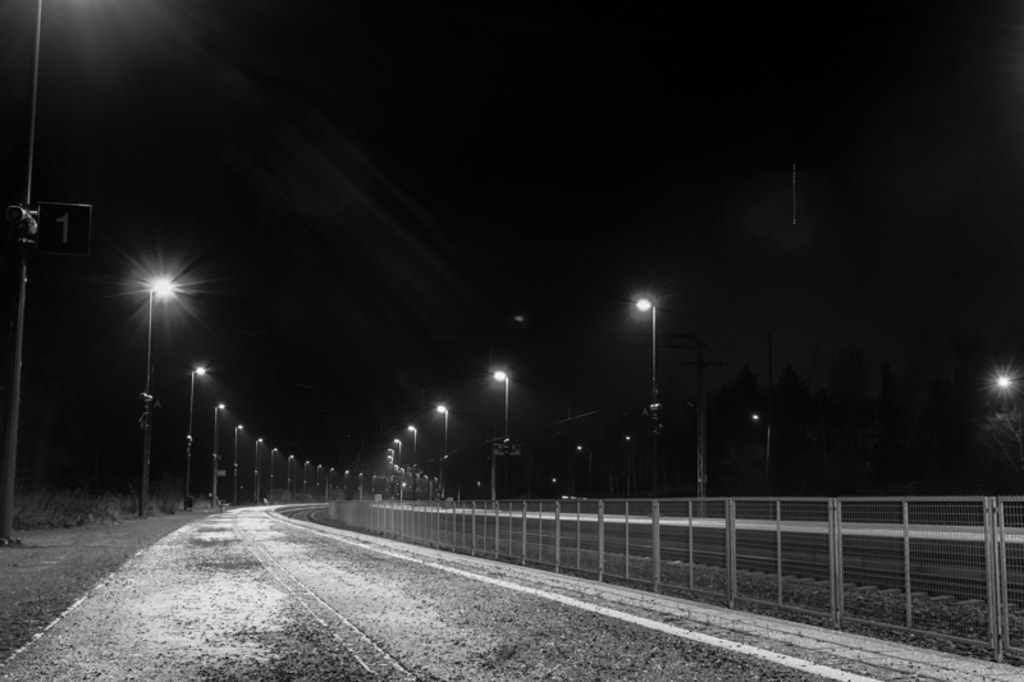 Railroad Station By Night via Jukka Heinovirta