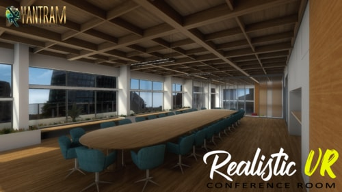 360-degree Realistic VR Conference Room of Virtual Reality D... via Yantram Studio