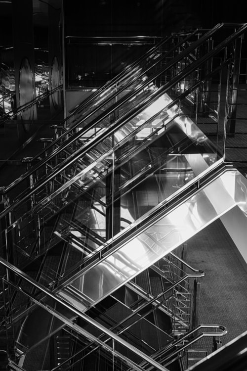 Reflections in the Ship Railing via Jukka Heinovirta
