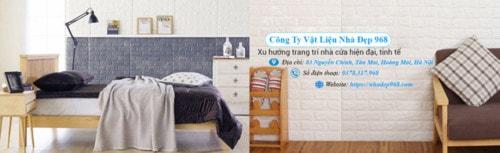Thi công xốp dán tường 3d cực đơn giản ngay tại nhà