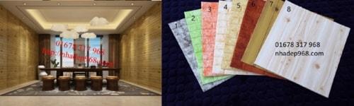 Tìm hiểu về xốp dán tường giả gỗ