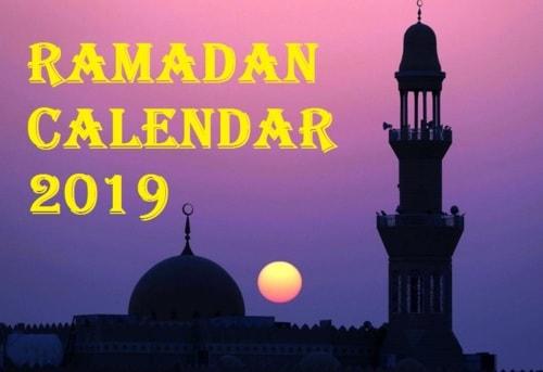 Ramadan Calendar 2019 - Eid Mubarak