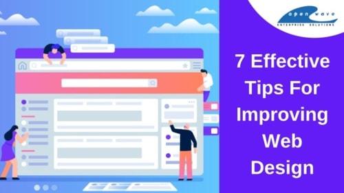 7 Effective Tips For Improving Web Design