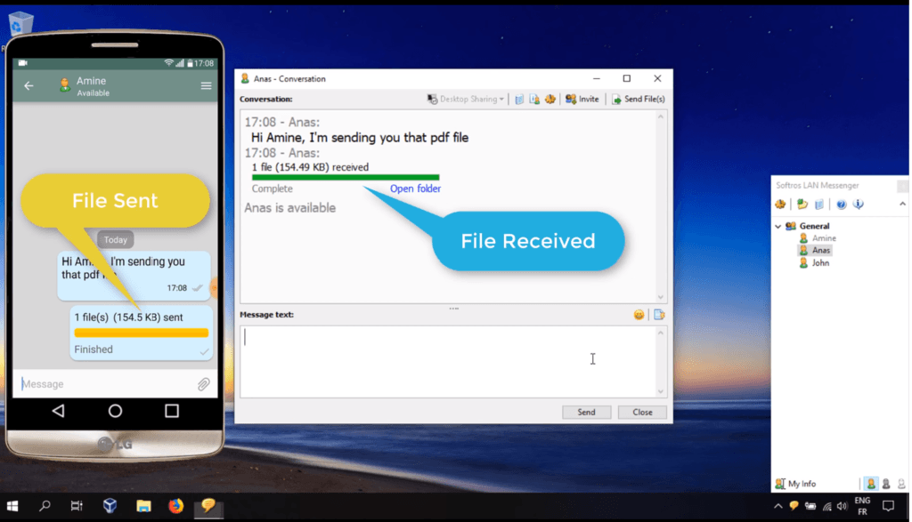 Step-by-step tutorial about sharing files between Android an... via Maria LAN messenger