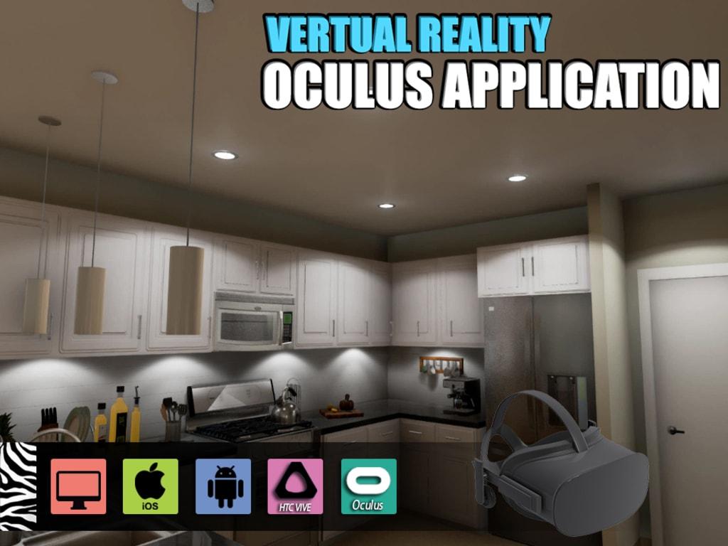 Interactive Virtual Reality Kitchen Design for Oculus Device... via Yantram Studio