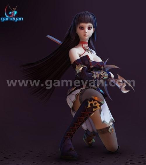 Seria – Beautiful 3D Character Animation Model By GameYan Po... via Gameyan