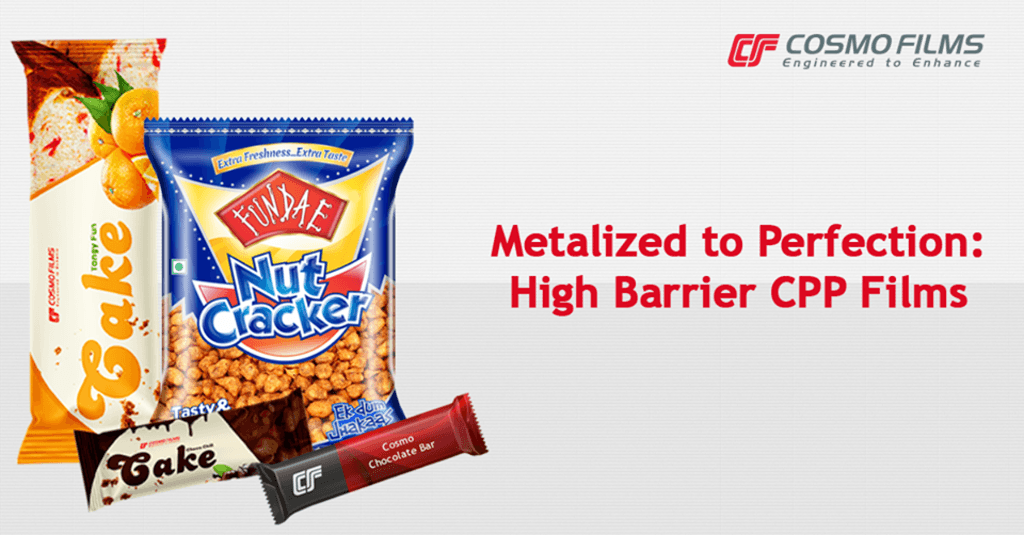 Metalized High Barrier CPP Films by Cosmo Films are probably... via Cosmo Films